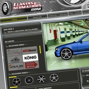 Aplicació interactiva amb e-commerce per la tenda virtual de llandes, Llantas y neumaticos