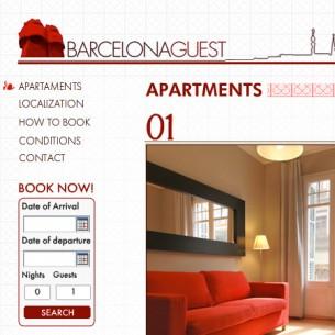 Disseny de la imatge corporativa i la web per Barcelona Guest, una companyia de lloguer apartaments de luxe de l'Eixample.