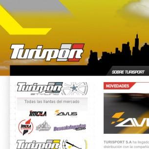 Redisseny del website de Turisport, una companyia d'accessoris d'automovilisme.