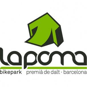 Restyling del logotip per La Poma, un dels bikeparks més grans de Catalunya.